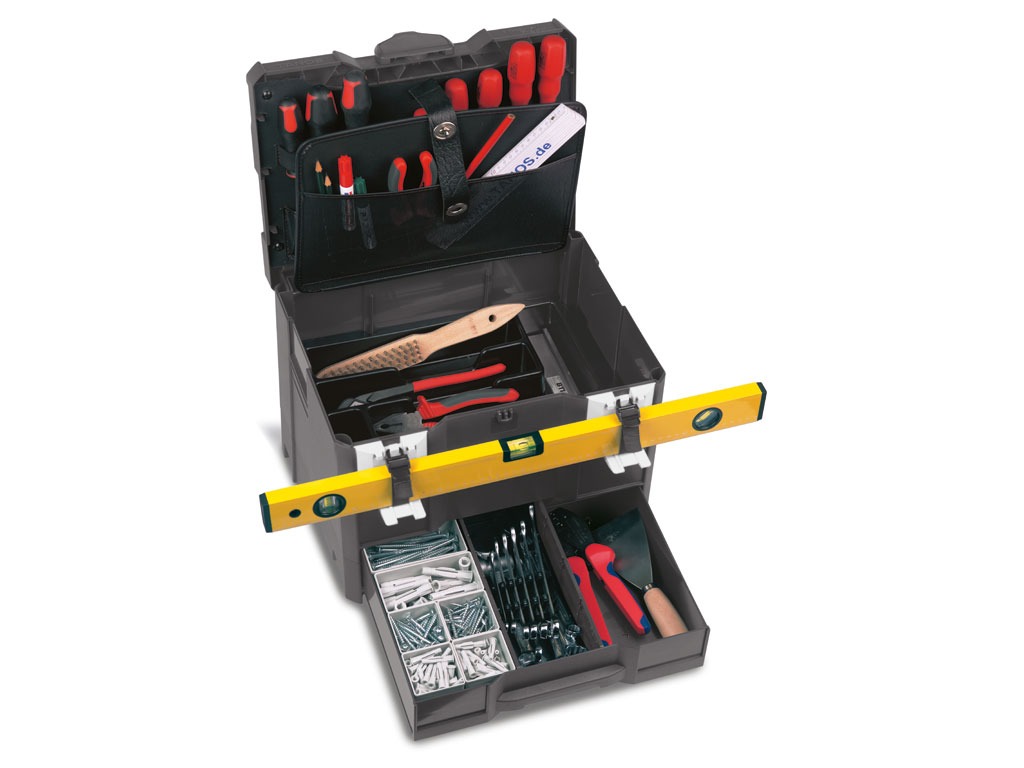 "systainer® T-Loc ""SYS-Combi III"" with tool tray, tool lid and level, anthracite"